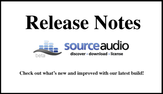 Source Audio release notes