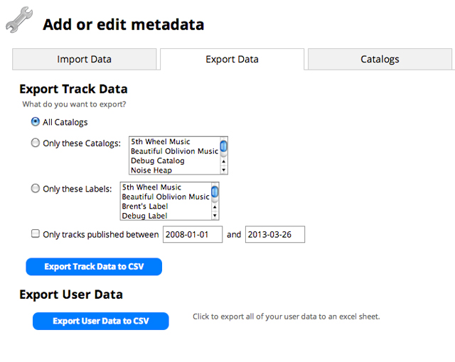 Now you can easily export subsets of your entire metadata database