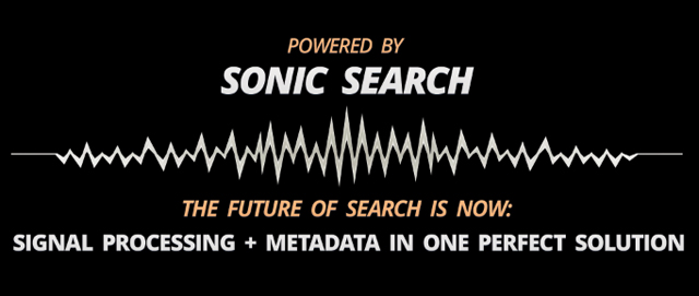 "SourceAudio's Proprietary ""Sonic Search"" technology can now power 3rd part sites"